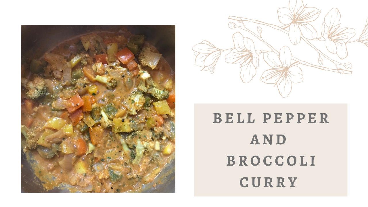 Bell Pepper and Broccoli Curry