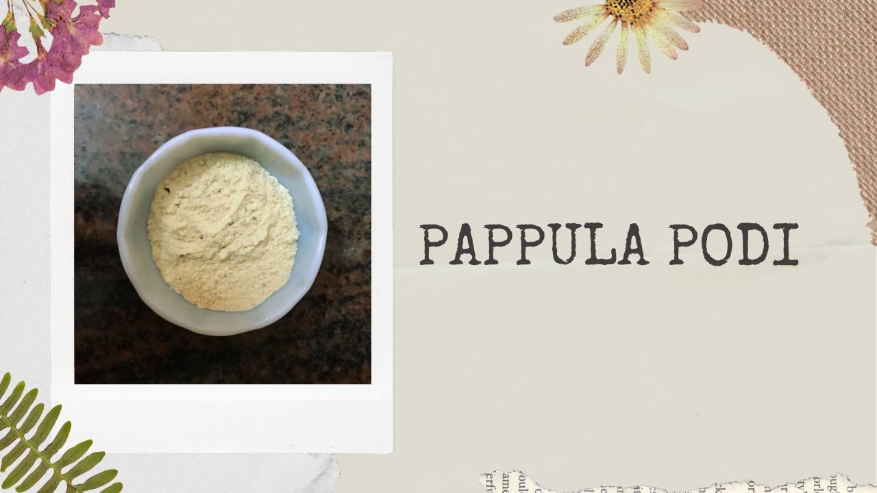 Pappula Podi | Gun Powder